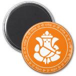 Señor Ganesha Sign Magnets Imán Redondo 5 Cm