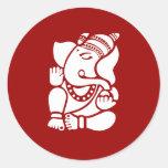Señor Ganesha Sign Pegatinas Redondas