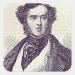 Señor Guillermo George Cavendish Bentinck 2 Calcomanía Cuadradas