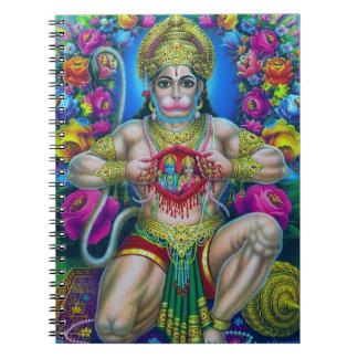 Señor Hanuman, dios hindú Spiral Notebook