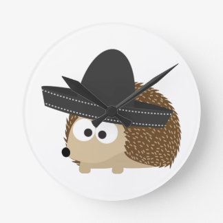 Señor Hedgehog Wall Clocks