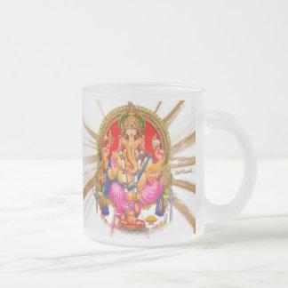 Señor hindú hermoso Ganesha Gayatri Mantra Taza De Cristal