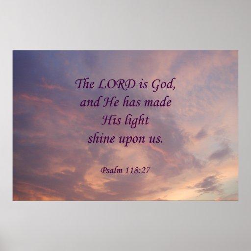 Señor Is God del 118:27 del salmo Posters