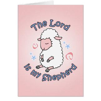 Señor Is My Shepherd Card Tarjeta Pequeña