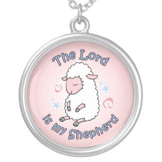 Señor Is My Shepherd Necklace Colgante Redondo