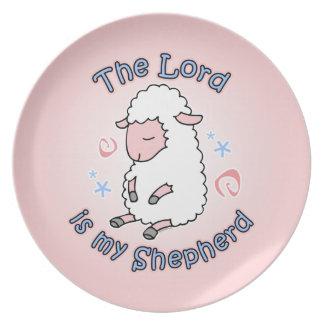 Señor Is My Shepherd Plate Plato De Cena
