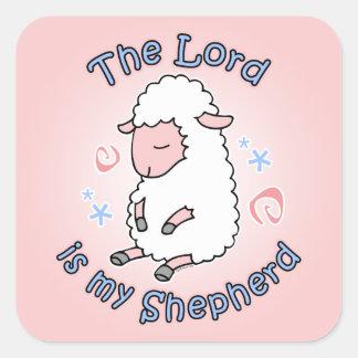 Señor Is My Shepherd Sticker Pegatina Cuadrada
