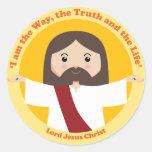 Señor Jesucristo Pegatinas Redondas