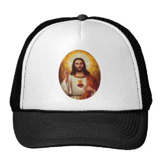 Señor Jesucristo y el corazón sagrado Gorras