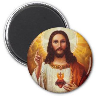 Señor Jesucristo y el corazón sagrado Imán