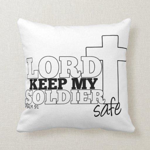 Señor Keep mi almohada de la caja fuerte del Cojín Decorativo