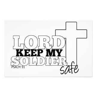 Señor Keep mi inmóvil seguro del soldado Papeleria De Diseño