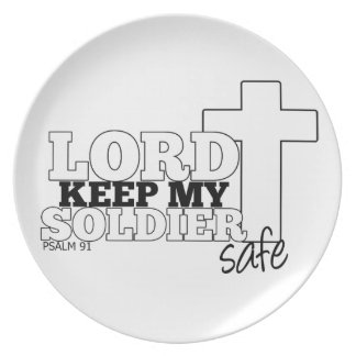 """""""Señor Keep placa de mi caja fuerte del soldado"""" Platos De Comidas"""