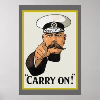 Señor Kitchener del vintage continúa el poster
