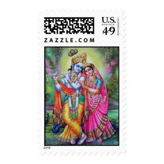 Señor Krishna y Radha Sellos