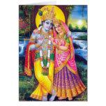 Señor Krishna y Radha Tarjeta De Felicitación