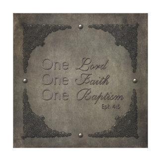 Señor metálico Faith Baptism Lona Envuelta Para Galerías