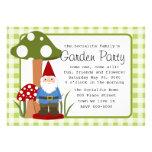 Señor Mushroom Garden Gnome Comunicados Personalizados