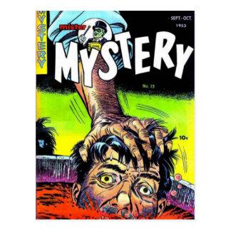 Señor Mystery Comics Tarjeta Postal