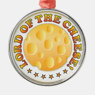 Señor Of The Cheese Adorno Navideño Redondo De Metal