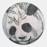 Señor Panda Etiquetas Redondas
