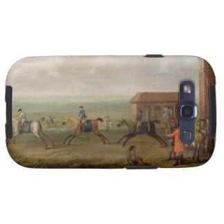Señor Portmore Watching Racehorses en ejercicio en Galaxy S3 Cobertura
