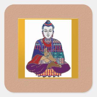 Señor principal Teacher Meditation del alcohol de Pegatina Cuadradas Personalizada