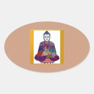 Señor principal Teacher Meditation del alcohol de Calcomanía Ovaladas Personalizadas