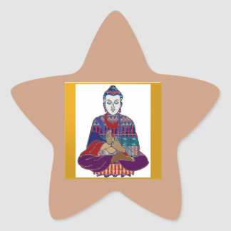 Señor principal Teacher Meditation del alcohol de Calcomanías Forma De Estrellas Personalizadas
