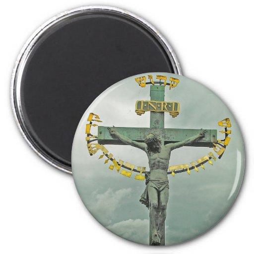 Señor santo santo, Praga (2) Imán Redondo 5 Cm