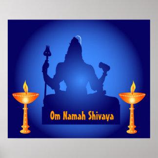 Señor Shiva con las lámparas - poster