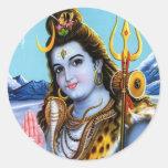 Señor Shiva Etiqueta Redonda