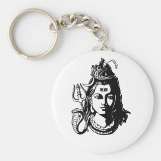 Señor Shiva Llavero Redondo Tipo Pin