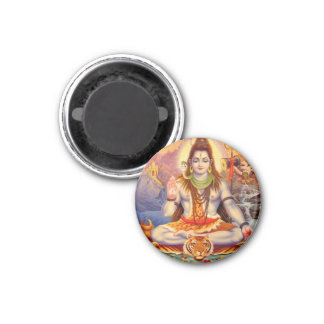 Señor Shiva Meditating Magnet Imán Redondo 3 Cm