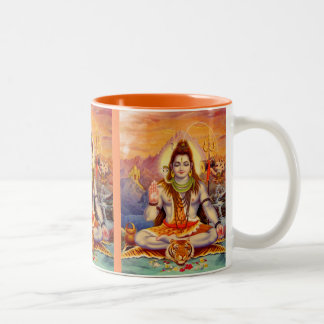 Señor Shiva Meditating Mug Taza De Dos Tonos