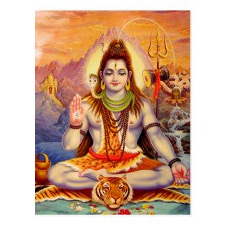 Señor Shiva Meditating Postcard Postal