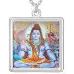 Señor Shiva Necklace Colgante Cuadrado