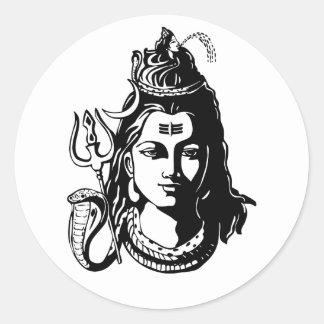 Señor Shiva Pegatina Redonda