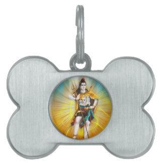 Señor Shiva Placa De Mascota