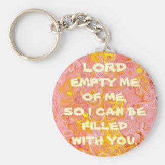 Señor vacío yo de mí llavero cristiano
