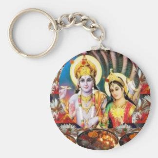 Señor Vishnu de DHAN Laxmi n: para la referencia Llavero Redondo Tipo Pin