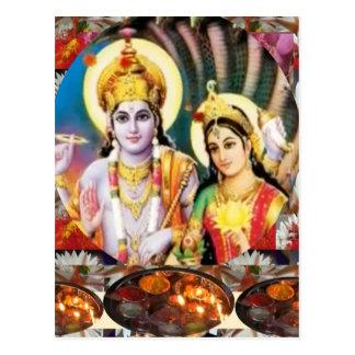 Señor Vishnu de DHAN Laxmi n: para la referencia Postales