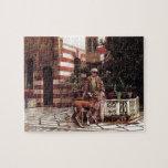 Señor Weeks- Girl de Edwin en un patio del Moorish Puzzle