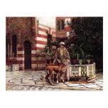 Señor Weeks- Girl de Edwin en un patio del Moorish Postal