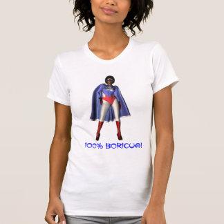 Señora 100% de Boricua Camisetas