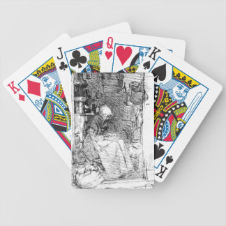 Señora 1858 del trapo cartas de juego