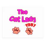 Señora 1987 del gato postal