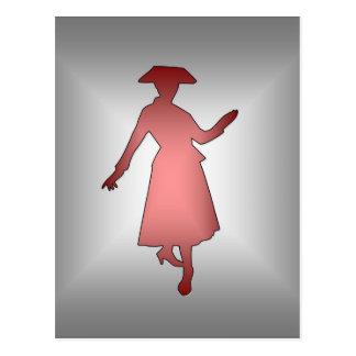 Señora 1 de la moda postal