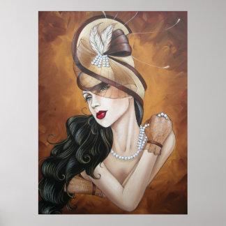 Señora 1 del gorra posters