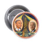Señora 2012 de Obama Biden LIberty Pin Redondo De 2 Pulgadas
